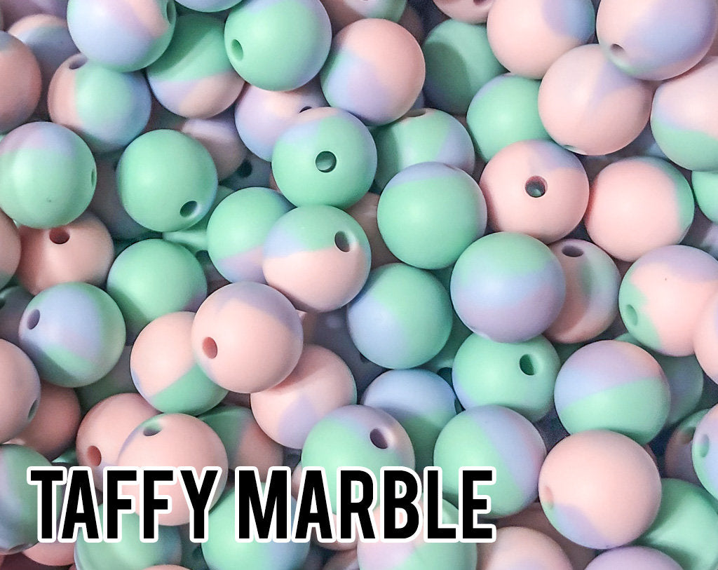 15 mm Taffy Marble Silicone Beads 5-1,000 (aka Tye Dye, Cotton Candy, Easter) Geometric Bead - Bulk Silicone Beads Wholesale - DIY Jewelry