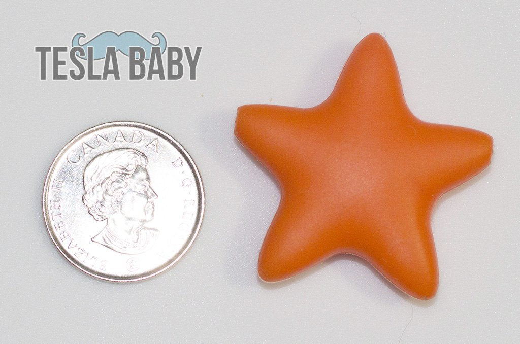 Blue Star Silicone Bead