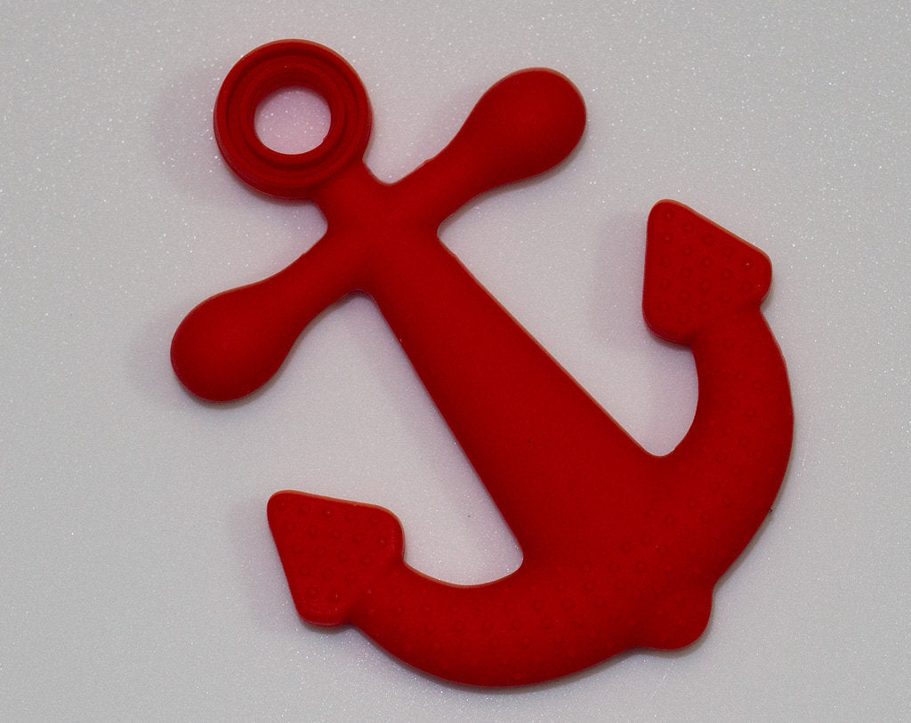 Silicone Anchor Pendant in Red