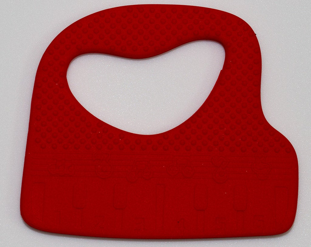 Silicone Keyboard / Piano Teether in Red - Silicone Teething, Silicone Teether, Teething Pendant