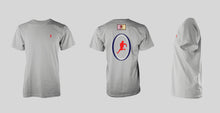 Grey Short Sleeve: EAGLES Red, White & Blue Logo T-shirt - Free Shipping to the USA