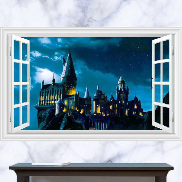 Hogwarts Window Decal For Wall