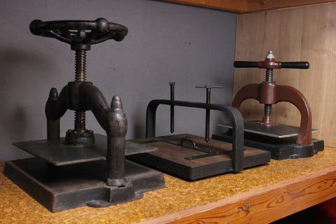 cast iron book presses