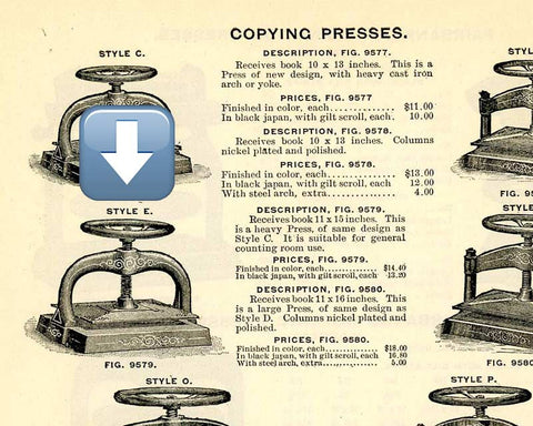 fairbanks copying press