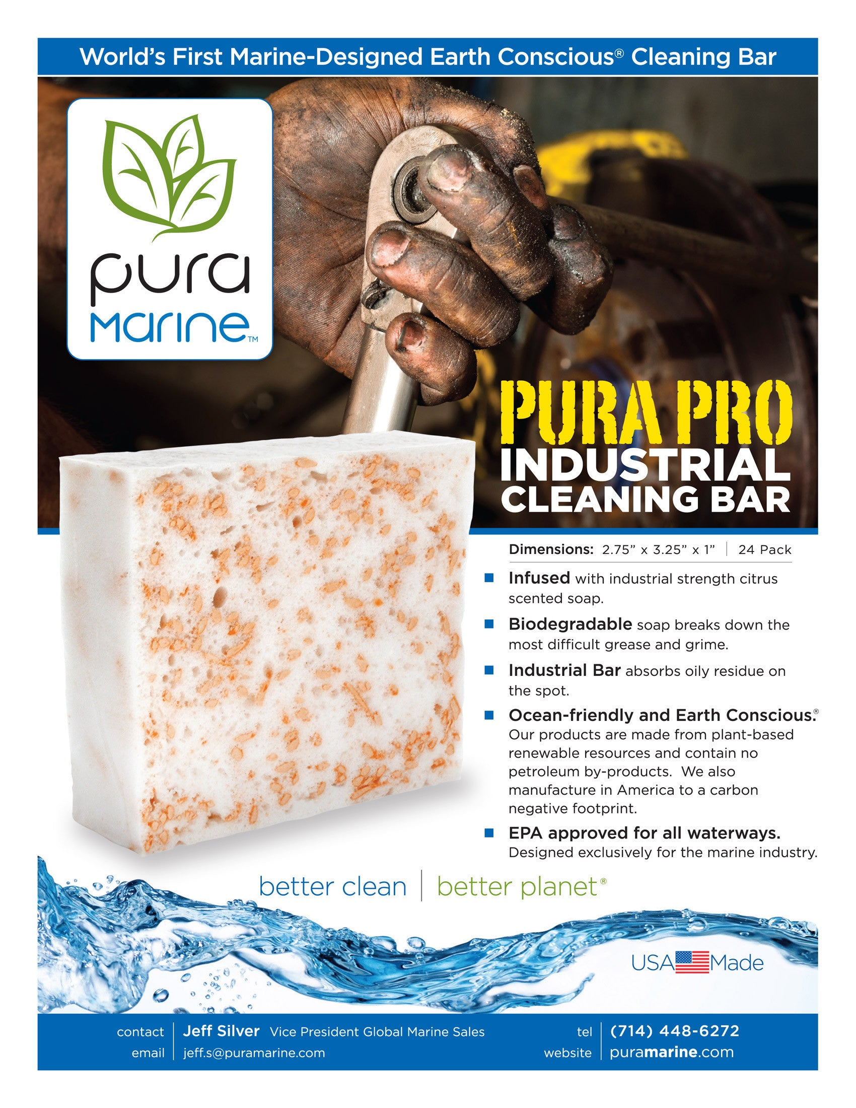 Pura Pro Cleansing Bar sheet