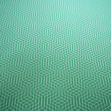 Bright Stem Geometric Wrapping Paper Vintage Inspired Abstract Emerald Green Pattern close up