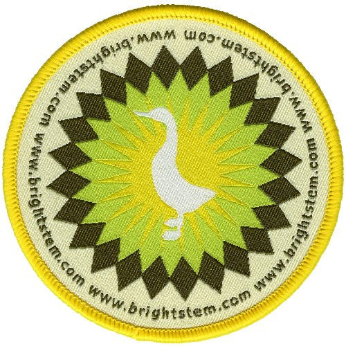 Bright Stem 4 Iron On Embroidered Patches Duck Rabbit Robin Squirrel - bright stem