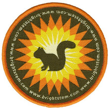 Bright Stem Iron On Embroidered Patch Squirrel