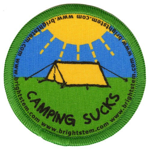 Bright Stem 4 Sew On Patches/Badges Camp Sailing Lighthouse Windmill - bright stem