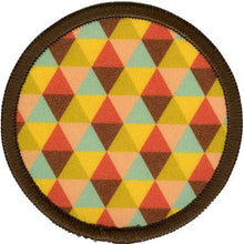 Bright Stem Sew On Patch / Badge Triangle Design Patern