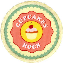 Bright Stem Sew On Patch / Badge Cupcake Design Pattern