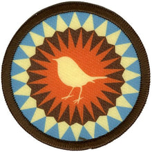 Bright Stem Sew On Patch / Badge Robin Design Patern