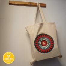 Bright Stem Cotton Tote Bag with Robin Design Printed on (100%Cotton)