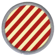 Bright Stem Sew On Patch / Badge Red Stripes