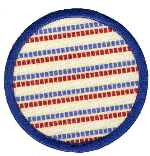 Bright Stem 4 Sew On Patches Badges, Polka Dots, Zig Zags and Stripes - bright stem