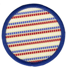 Bright Stem Sew On Patch/  Badge Dashed Stripes