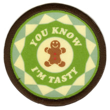 Bright Stem Sew On Patch / Badge Gingerbread Man Design Patern