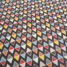 Bright Stem Geometric Wrapping Paper Vintage Inspired Abstract Dimond Chocolate Pattern close up