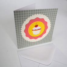 Bright Stem Notecard / Thank You Card and Envelope Cupcake Design
