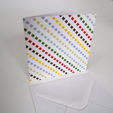 Bright Stem Small Thank You Cards/Notecard Multicoloured Dashed Lines Design