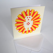 Bright Stem Notecard / Thank You Card and Envelope Ray the Robot Design
