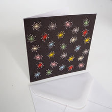 Bright Stem Notecard / Thank You Card and Envelope Multicoloured Sparks Design