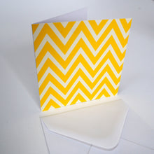 Bright Stem Notecard / Thank You Card and Envelope Yellow Zig Zag Design