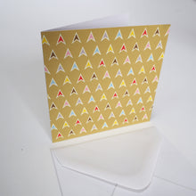 Bright Stem Notecard / Thank You Card and Envelope Multicoloured Arrows Design
