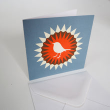 Bright Stem Notecard / Thank You Card and Envelope Robin Design