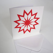 Bright Stem Notecard / Thank You Card and Envelope Snowflake / Star Design