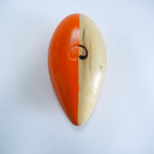 Abstract Sculpture S8.3 Pinewood with Orange Paint Limited Edition 1/1