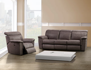 Elran Parker Reclining Sofa with Pop Up Headrest