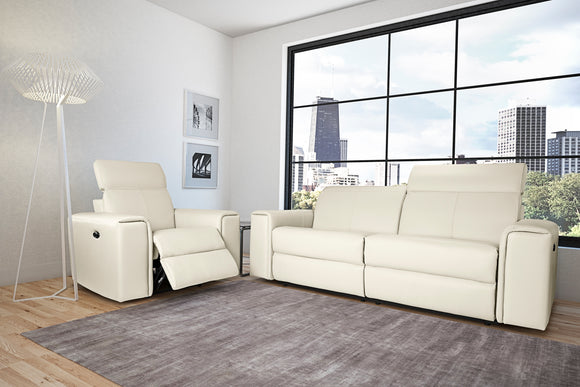 Elran Mason Reclining Condo Sofa with Adjustable Head Rest