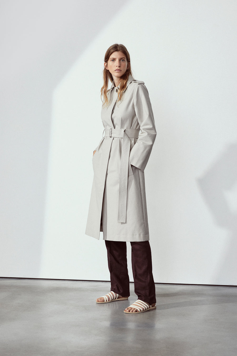 Stone Abby Trench Coat