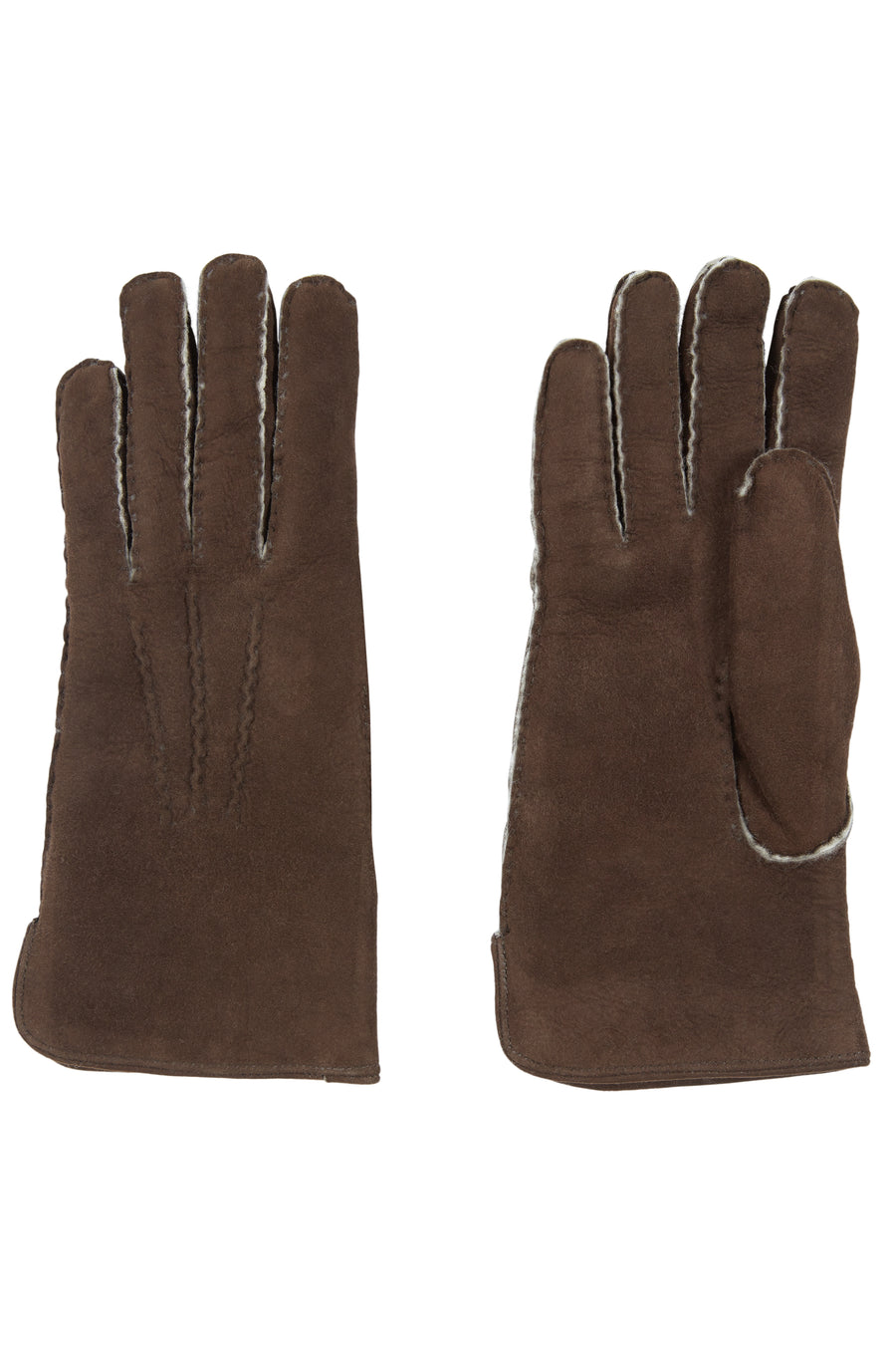 Mahogany Shearling Gloves