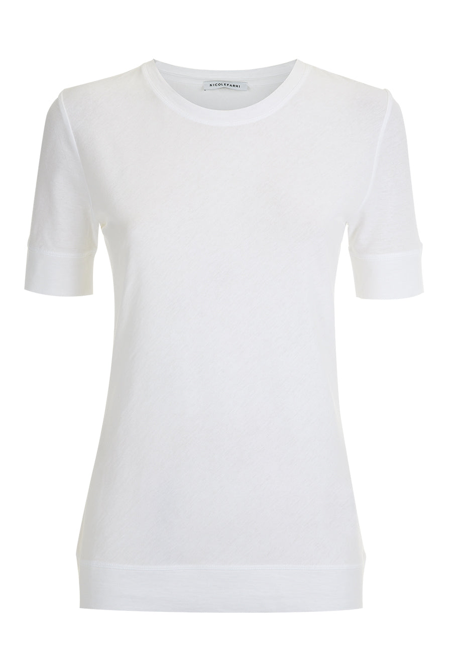 White High Twist Cotton T-shirt