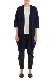 NAVY MALMO CASHMERE CARDIGAN