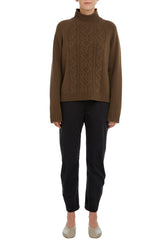 Americano Grace Cropped Cable Sweater