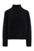 Black Grace Cropped Cable Sweater