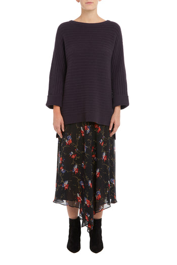 Raisin Gigi Oversized Dolman Cashmere Sweater