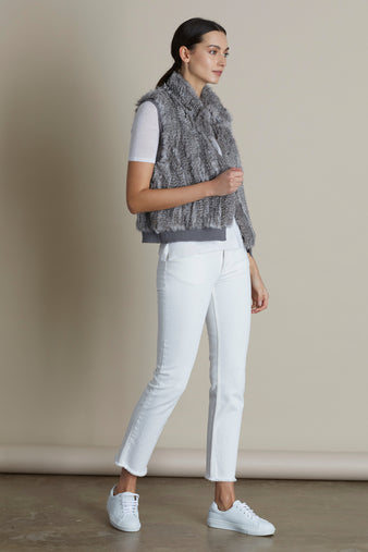 Light Grey Pixie Fur Gilet