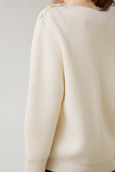 Bone Marisa Merino Shoulder Button Sweater