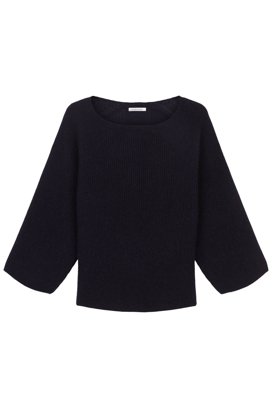 Ink Sanna Wool Rib V-Neck Jumper