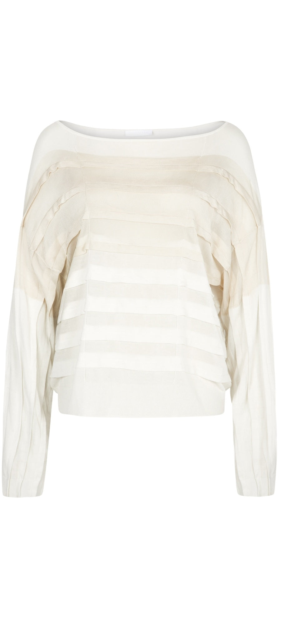White Pleated Jumper