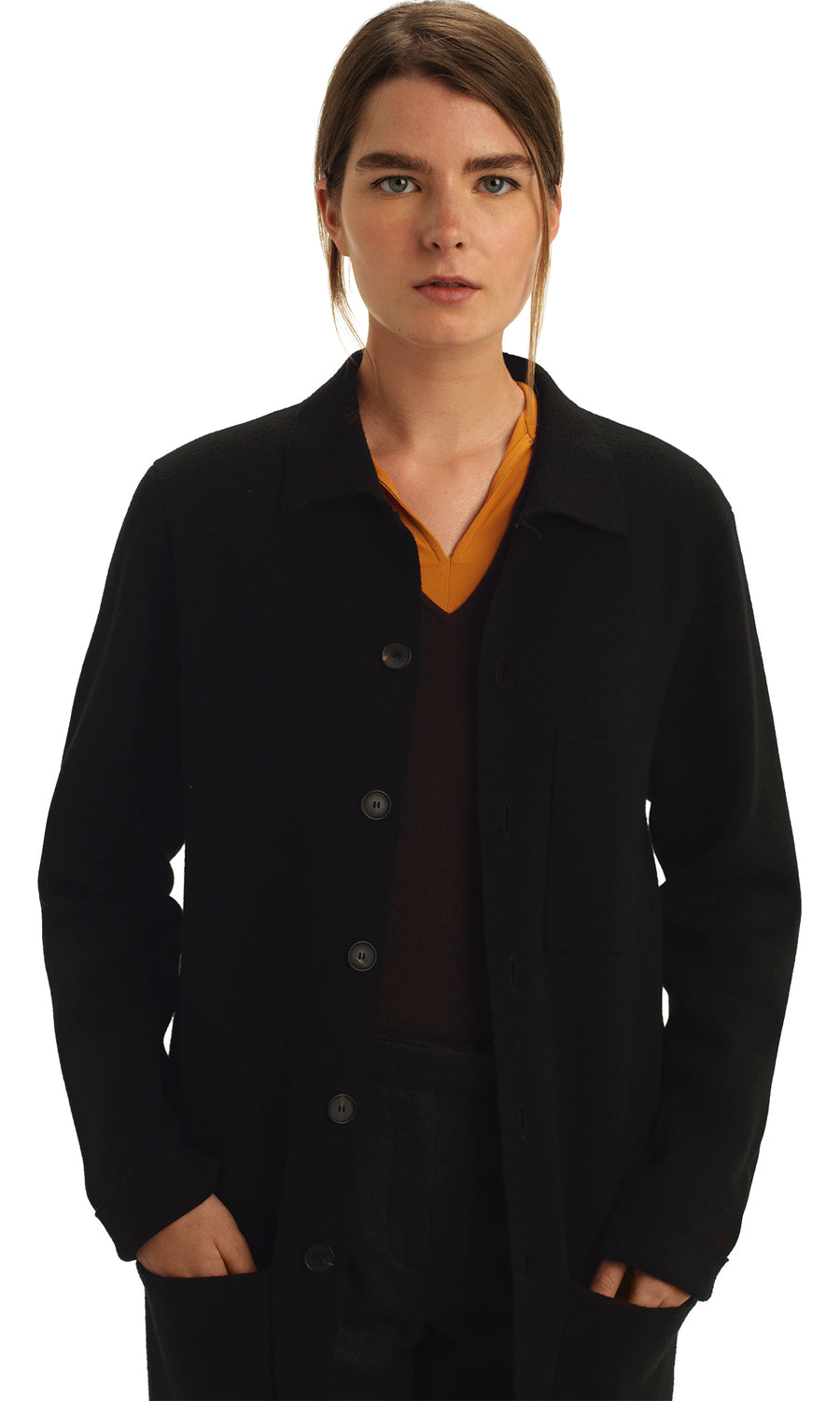 Black Knitted Milano Cardigan