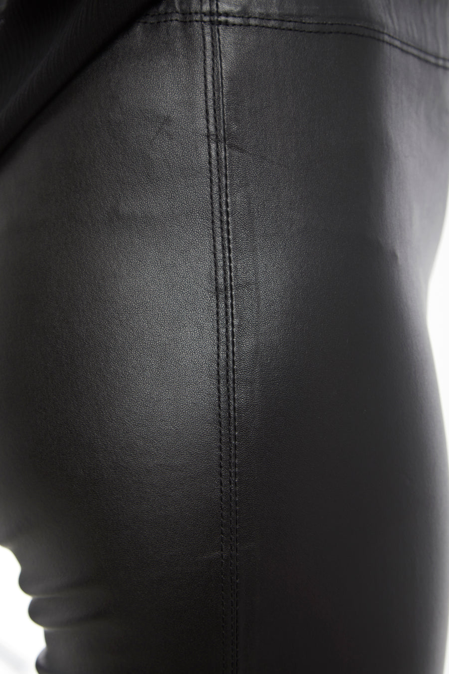 Black Steph Stretch Leather Legging