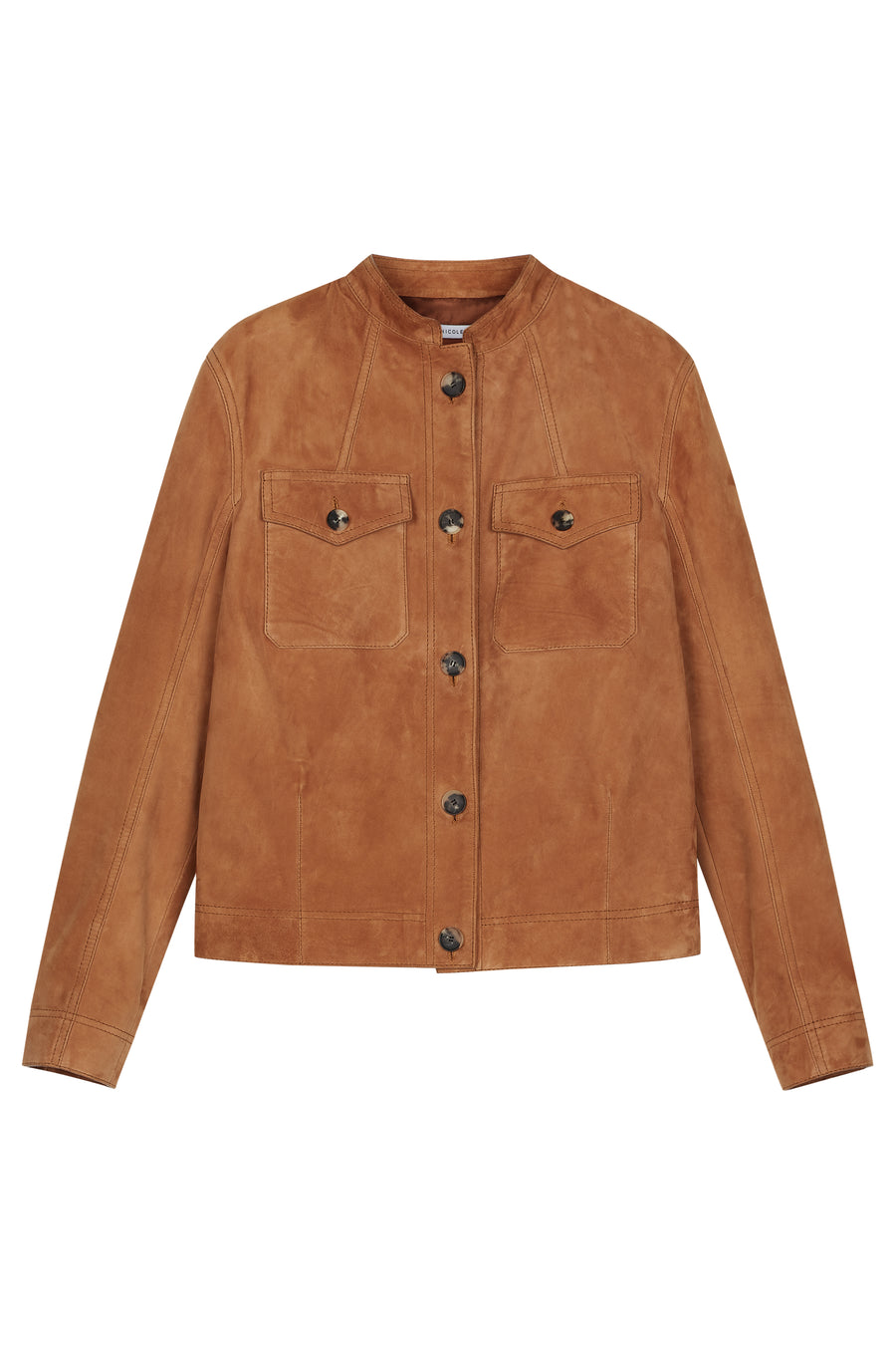Tan Amber Suede Shirt Jacket