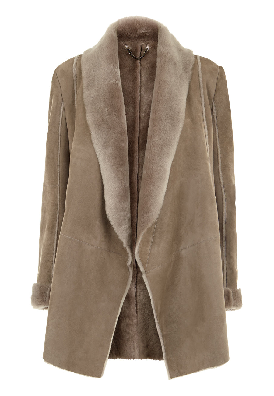 Light Grey The Mendesm Coat