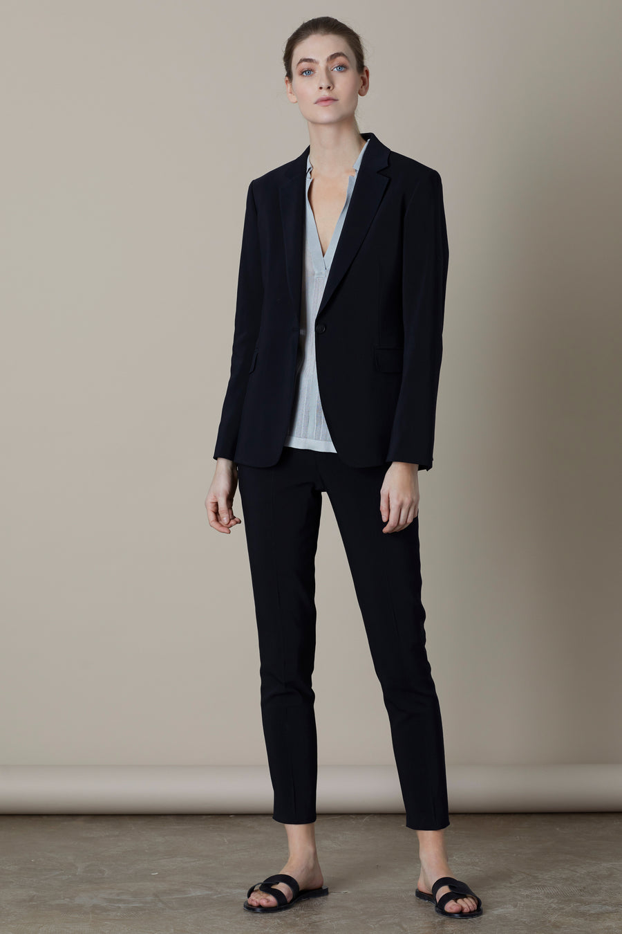 Black Ashley Single Button Blazer