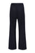 Navy Lily Wide Leg Wool Trouser